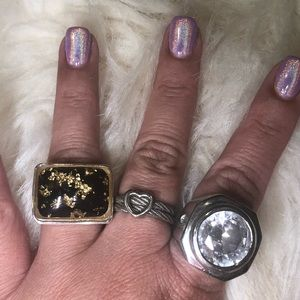 Lot of fashion rings various sizes (6.5 - 8.5)